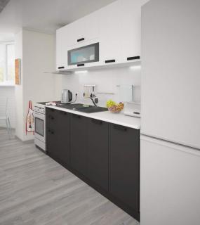 Кухня Угловая Фиджи 1,7*1,4 Белый/графит