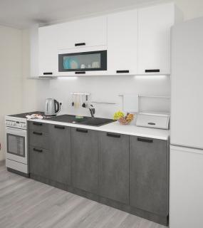 Кухня Фиджи 1,8 Белый/бетон