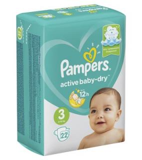 Подгузник Pampers Active Baby Dru 6-10Кг. Размер 3