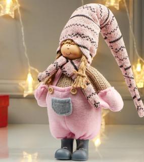 Кукла Девочка В Розовом Комбинезоне