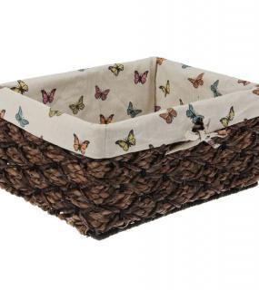 Корзина Для Хранения Плетеная Бабочки 36*28*19См