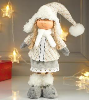 Кукла Девочка В Зимнем Наряде И В Шапке-Ушанке