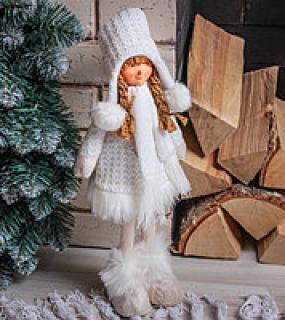 Кукла Девочка В Белом Платье С Сердечком 43См
