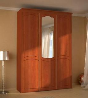 Шкаф-Купе 3-Х Дверный С Зеркалами Мдф 1650*560*235