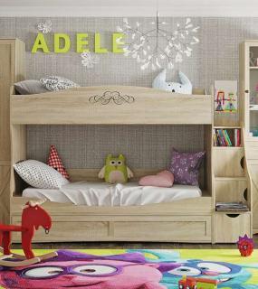 Кровать Двухъярусная 90 + Тумба-Лестница  91 Adele