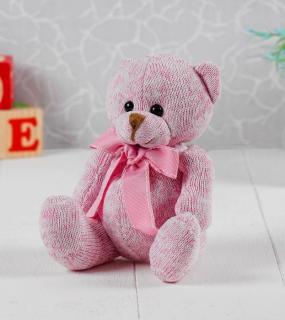 Мягкая Игрушка Мишка С Бантом Розовый