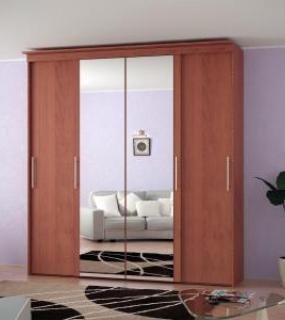 Шкаф-Купе 4-Х Дверный С Зеркалами Лдсп 2200*560*23