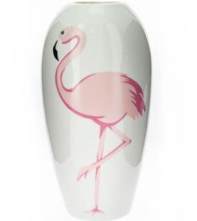 Ваза Декоративная Фламинго Фарфор 26См